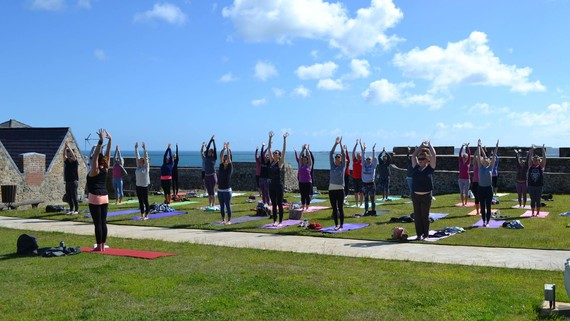 Wellness Holidays To Guernsey - Castle Cornet Yoga