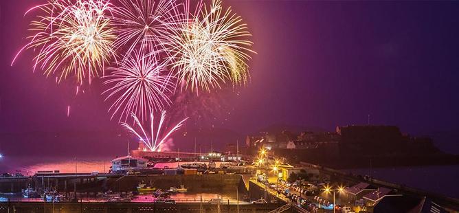 Heritage Festival fireworks Guernsey