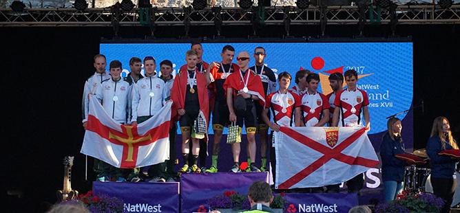 Jersey & Guernsey Island Games Podium