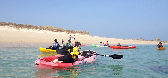 Kayaking in Herm
