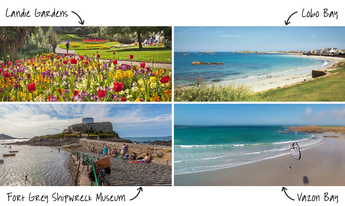 Attractions and beaches in Guernsey