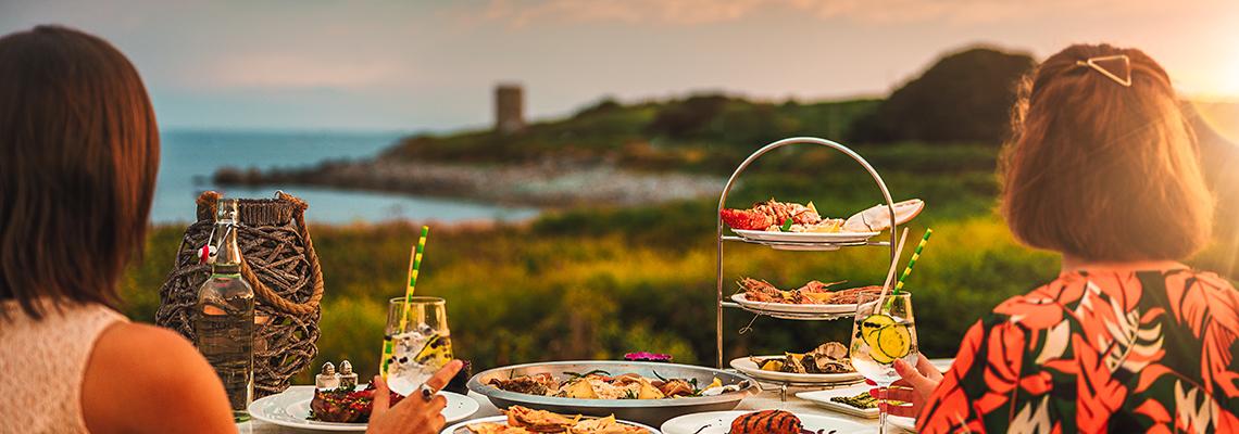 Alfresco dining Guernsey